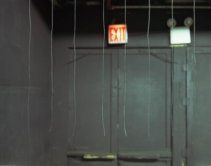 Exit sign with strings, Spook-A-Rama, Coney Island, 2004