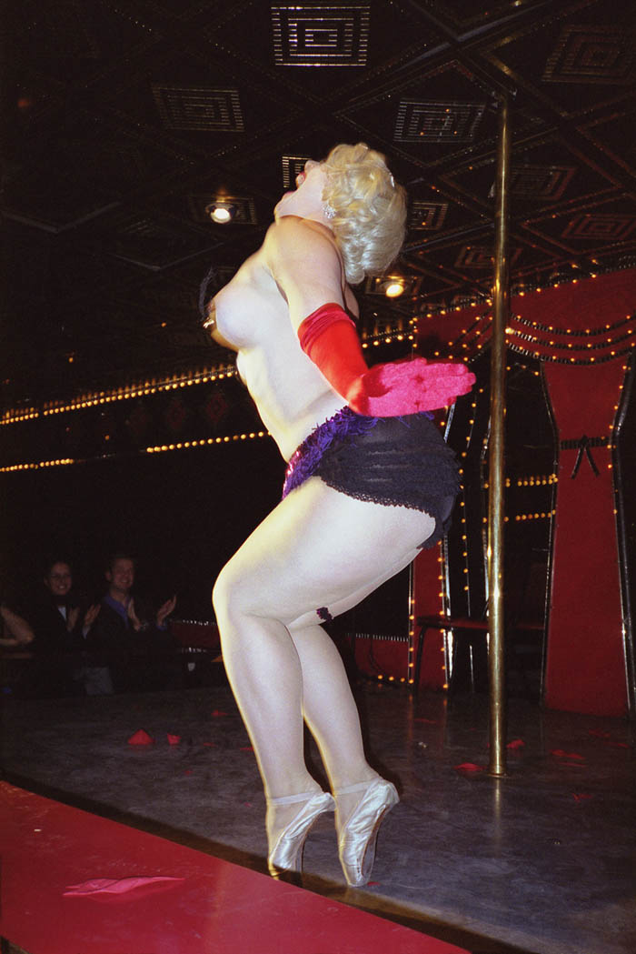 Dirty Martini on toes, Show World, NYC 1999