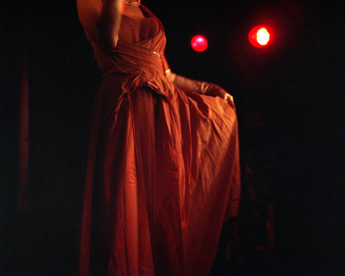 Delerium Tremens' dress, Slipper Room, NYC, 2003