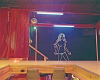 Wall Mural, Climax Red Top strip club, Murrysville, Penna. 2002