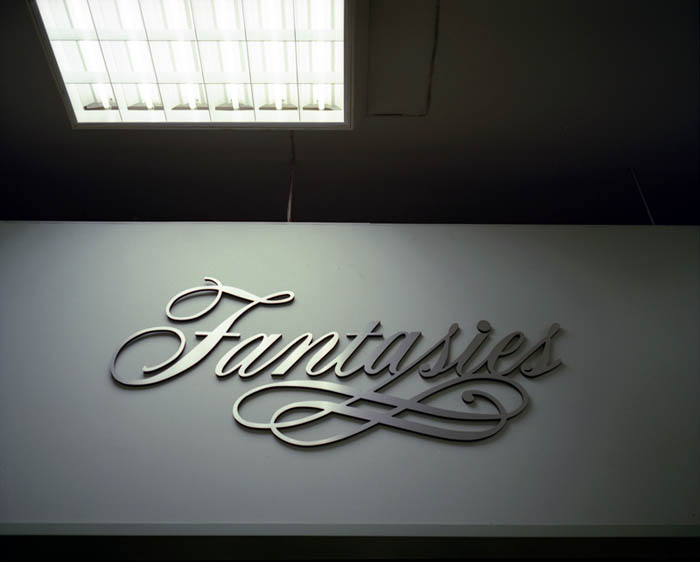 Fantasies sign at department store, Brooklyn, NY 2002