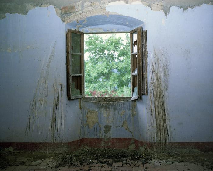 Window with bird droppings, Villa Vitigliano, Chianti, Italy 2009