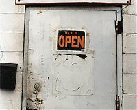 Open sign on door, Trainer, Penna. 2003