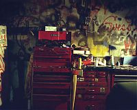 Toolbox in garage, Trainer, Penna. 1999