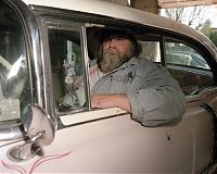 Dad in Pink Caddy, Media, Penna. 2002