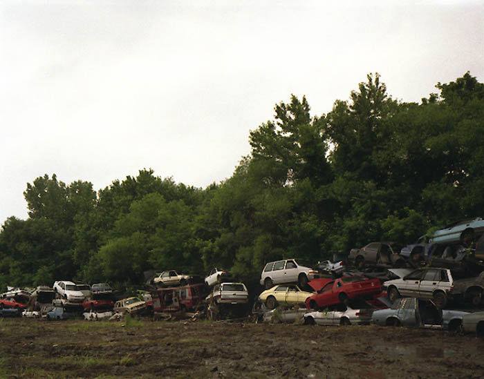 Stacked cars, Trainer, Penna. 2003