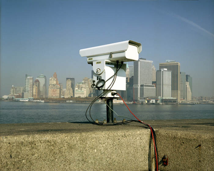 Camera on city, Castle Williams, Governors Island, NY 2003