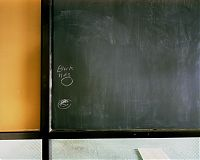Black hole, chalkboard at PS 26, Governors Island, NY 2003
