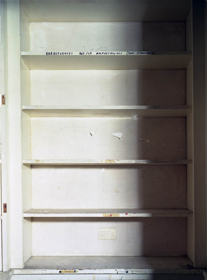 Drug closet in hospital, Governors Island, NY 2003