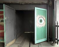 Eye on door, Spook-A-Rama, Coney Island, 2005