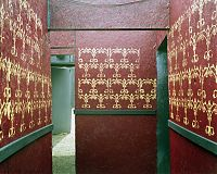 Red and gold corridor, Haunted Graveyard, Bristol, Conn. 2004