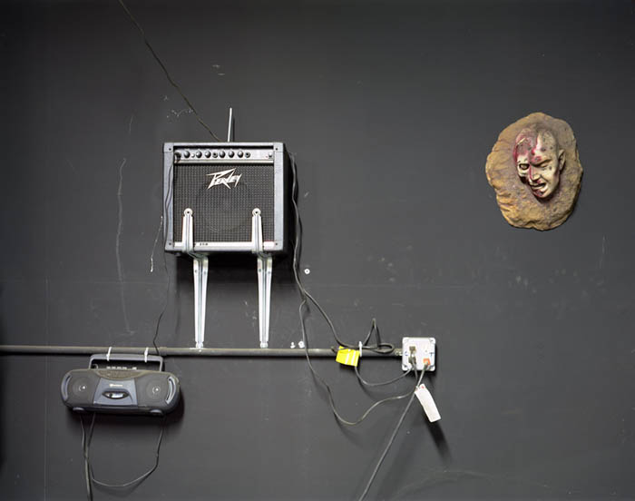 Head and amp on wall, Spook-A-Rama, Coney Island, 2004